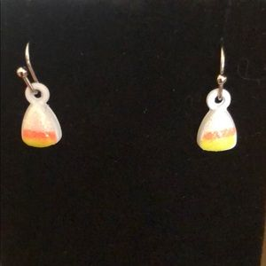 Candy Corn Drop Earrings by Claire's